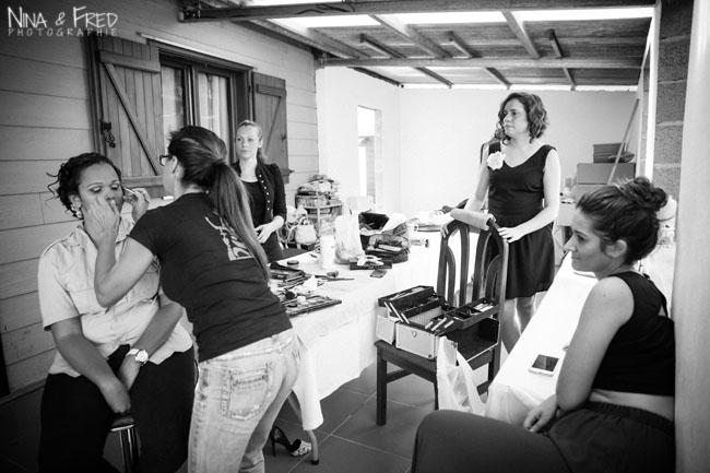 photo mariage noir et blanc D&Y