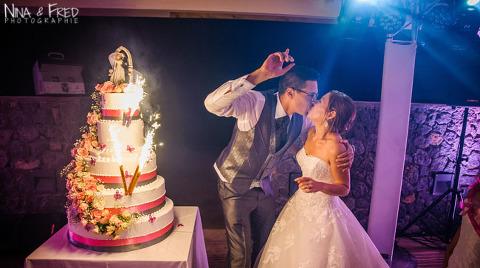 gâteau de mariage A&L