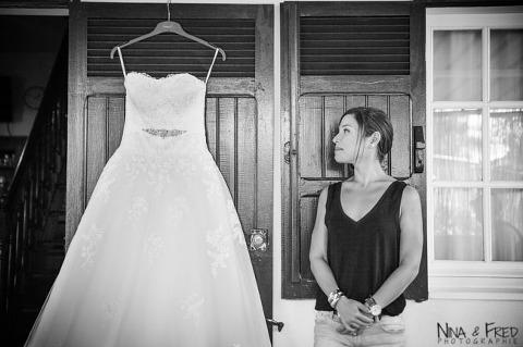 Aurélie et sa robe de mariée