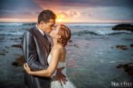 coucher de soleil mariés A&L