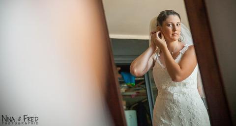 préparation de la mariée Emmanuelle
