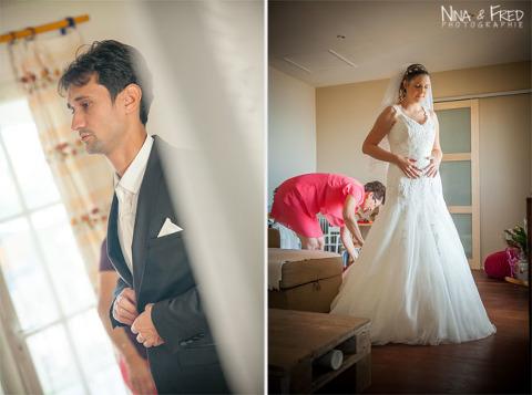 préparatifs mariés Emmanuelle et Cédric