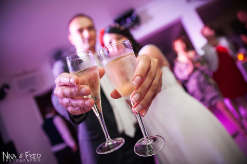 coupes de champagne mariage I&S