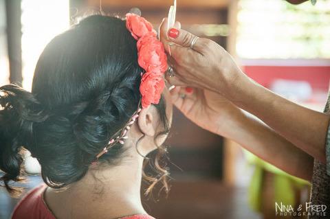 coiffure de mariage d'Isabelle