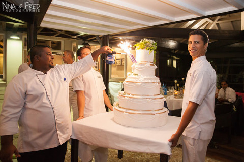 gateau de mariage au Lux Sandrine et Thomas