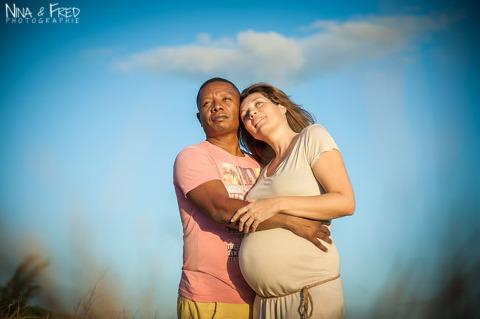 séance photo de grossesse Gaston et Gladys