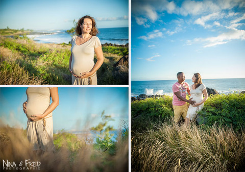 photos de grossesse de G&G à la Réunion