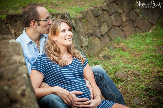 femme enceinte Réunion Véro