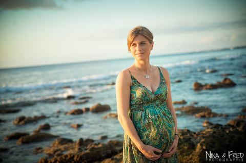 femme enceinte plage Emmanuelle