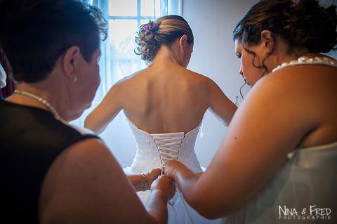 habillage de la mariée L&V