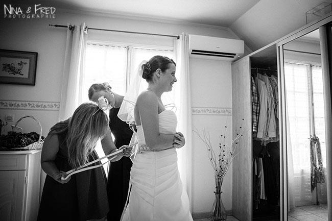 préparation de la mariée Marie-Alice