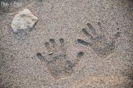 alliances dans le sable Émilie et Sébastien