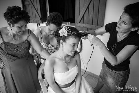 préparation du mariage Coralie
