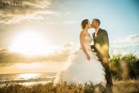 photographie mariage coucher du soleil C&D