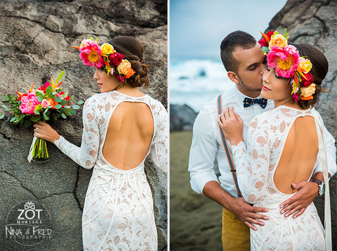 shooting d'inspiration mariage Néo Tropical
