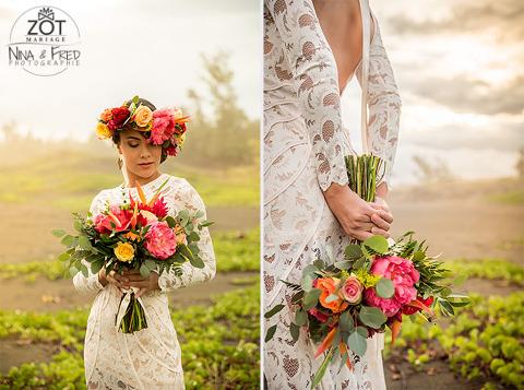 séance d'inspiration mariage sous les tropiques 974