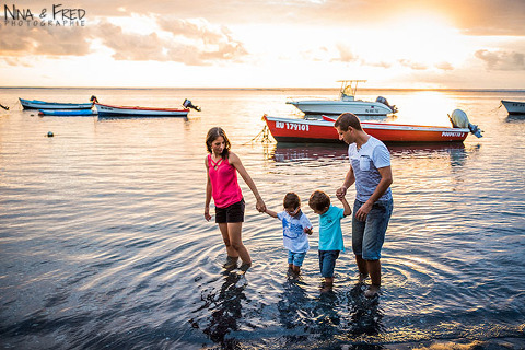 photo de famille B dans l'eau