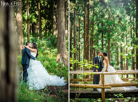 photos trash the dress A&T forêt