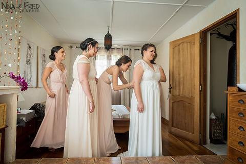 préparation de la mariée Elisabeth