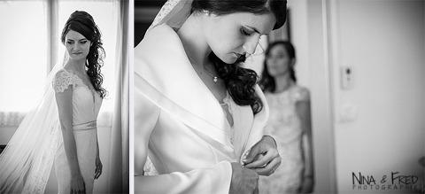 prépration de la mariée Katia