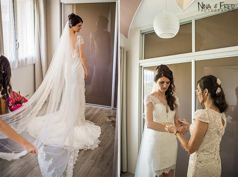 habillage de la mariée Katia