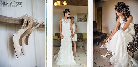 habillage de la mariée Johanna
