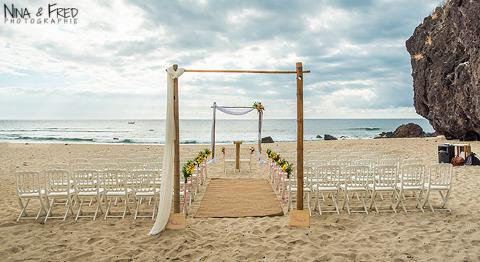 arche cérémonie sur la plage 974 W&F