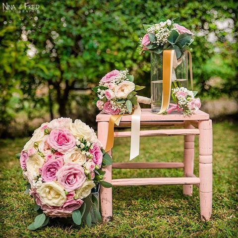 fleurs mariage Audrey et Stephane