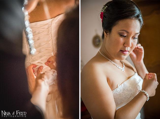 habillage de la mariée A&R