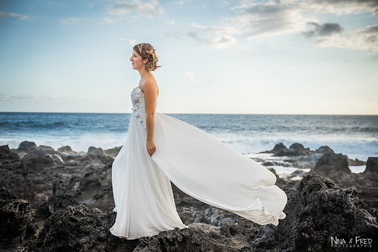 mariée M&C trash the dress