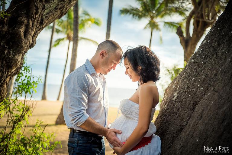 photo de grossesse à la Réunion Sylvaine