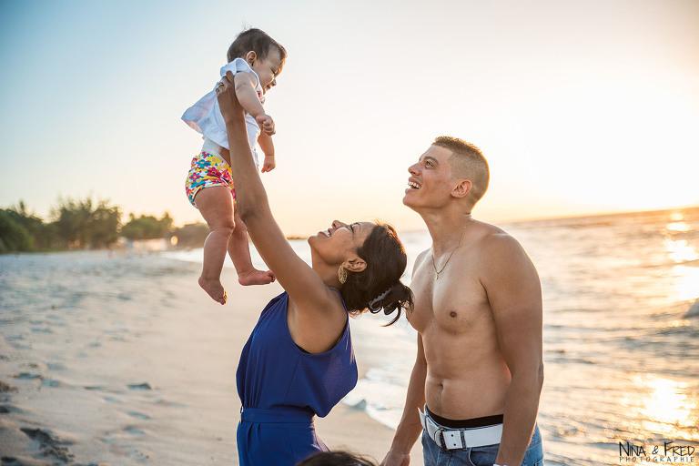 photo famille fontaine Réunion