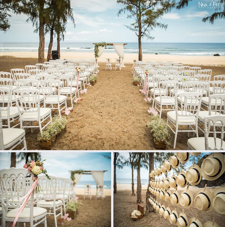cérémonie sur la plage Réunion E&B