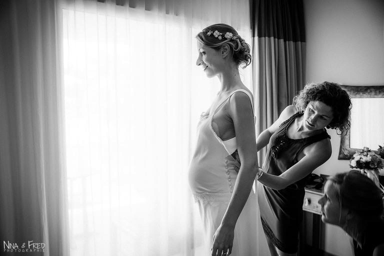 mariée Marion habillage