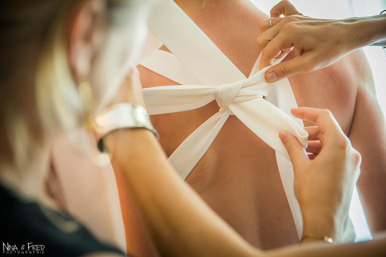 noeud robe de mariée M&B