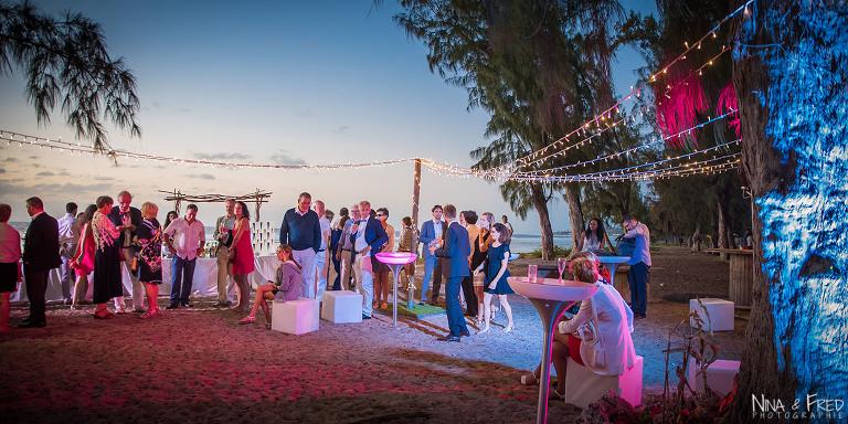réception mariage sur la plage M&B