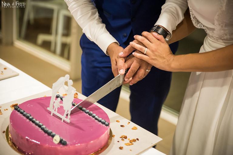 découpe du gâteau A&Y