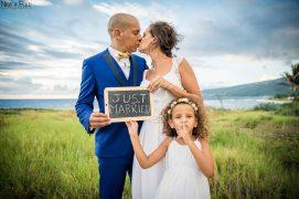 just married A&Y en famille