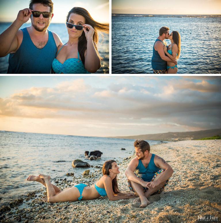 séance photo couple plage C&A