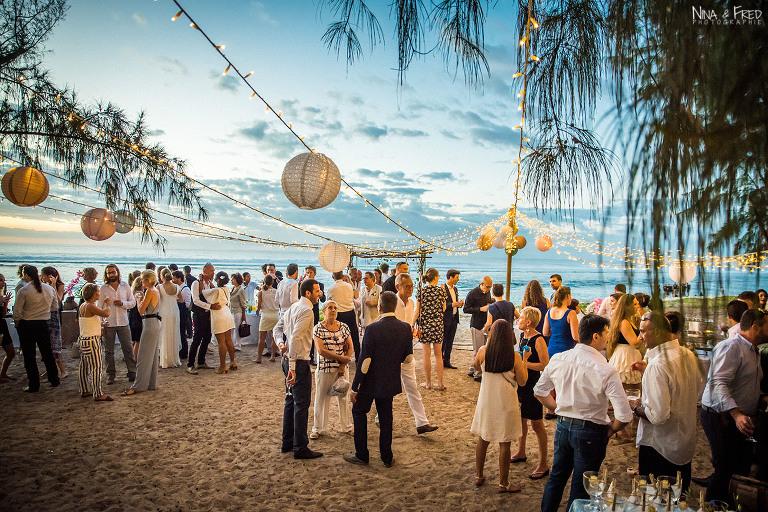 réception de mariage sur la plage K&M