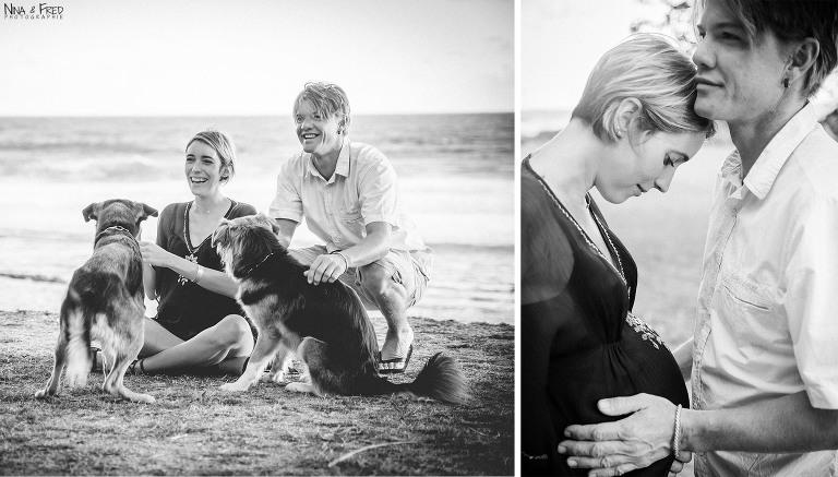 séance photo avec les chiens F&A