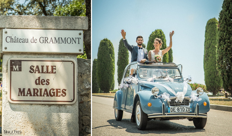 mariage arrivée voiture L&S
