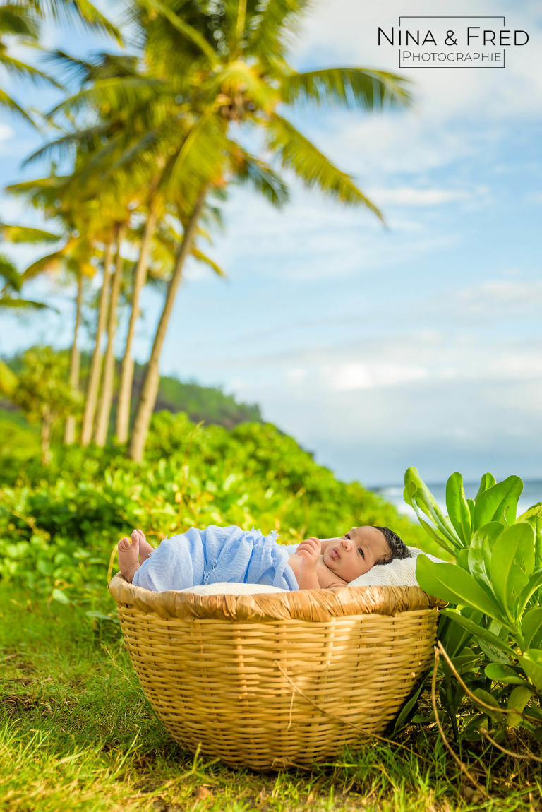 photo de naissance plage tropiques 974