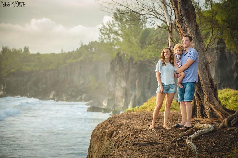 séance photo en famille sur l'île de la Réunion