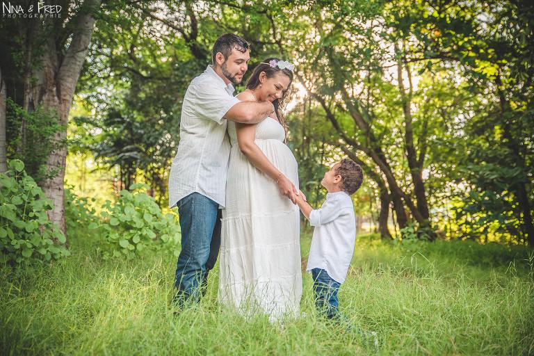 photo famille grossesse forêt 974