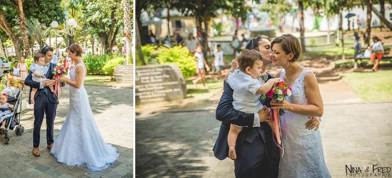 photographie des mariés L&F
