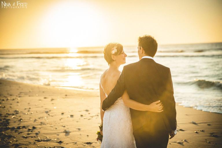photo mariage plage Réunion L&F