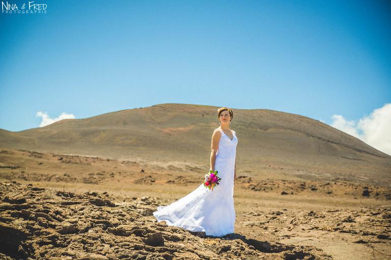 photo mariage Volcan la Réunion L&F