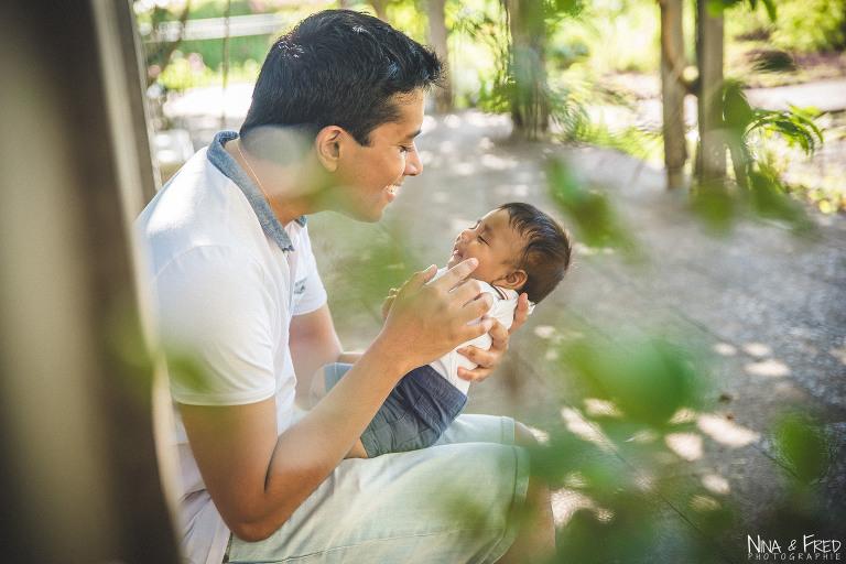 photo père et bébé Dj 974