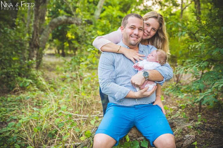 photo famille naissance Elise